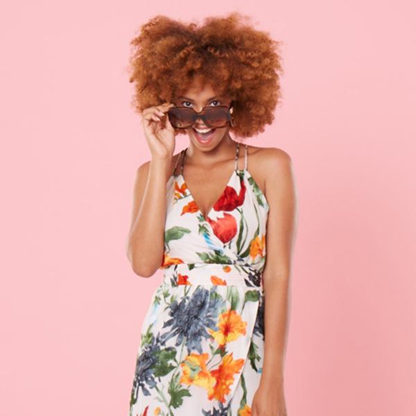 Invisibra floral summer midi dress square