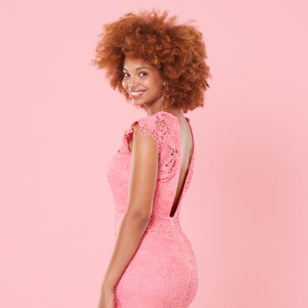 Invisibra pink lace dress square