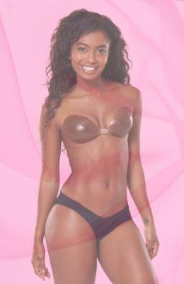 Backless Bra To Match Dark Cocoa Skin Tone <br> Chocolicious