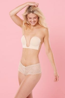 Nude Lace French Briefs <br> Birthday Suit