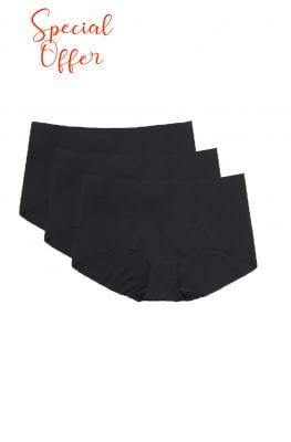 Seamless Black Knickers NO VPL <br>  3 PCS Multipack