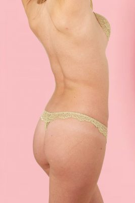 Lace Thong With Scalloped Edges <br> Glamour
