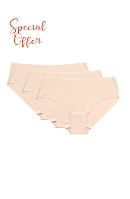 Seamless Nude Underwear <br> NO VPL 3 PCS Multipack
