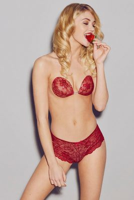 Backless Push Up Bra <br> Cherry Bomb