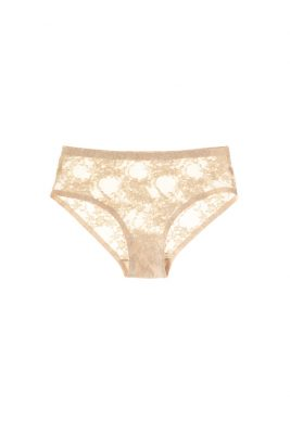 No VPL <br>Nude Lace Brief