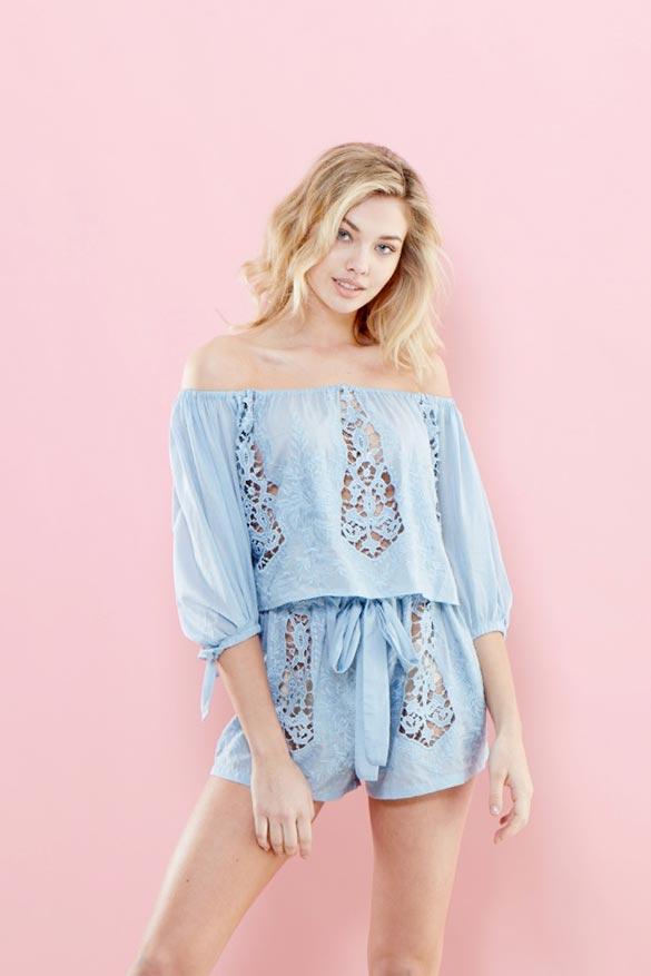Amanda Blue Shorts Set