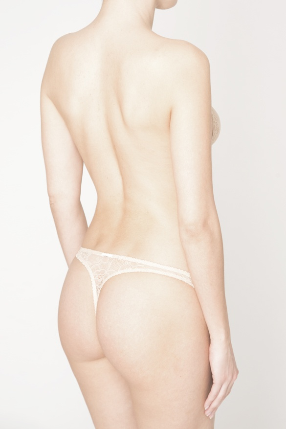 gabriela thong is the matching thong to alyssa it is made with the same nude floral lace this is the back view of gabriela