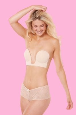 Backless Self Adhesive Plunge Bra <br> Knock out