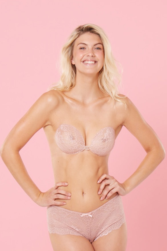 Backless Push Up Bra <br> Strawberries N' Cream