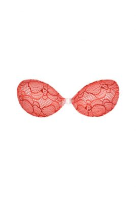 Backless Strapless Bra With Red Lace<br> Hot Stuff