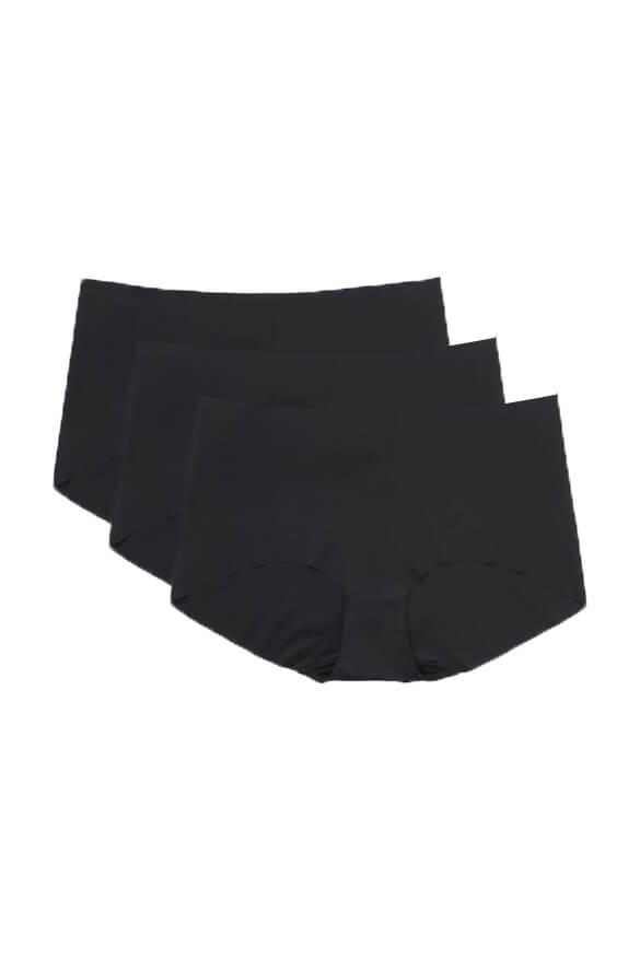 No VPL<br> Black Hipster 3 Pack