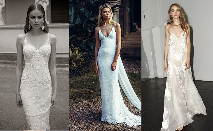 STRAPPY WEDDING DRESSES