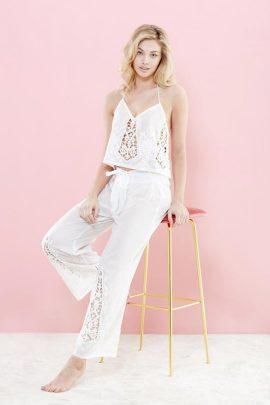 Amanda White Trousers Set