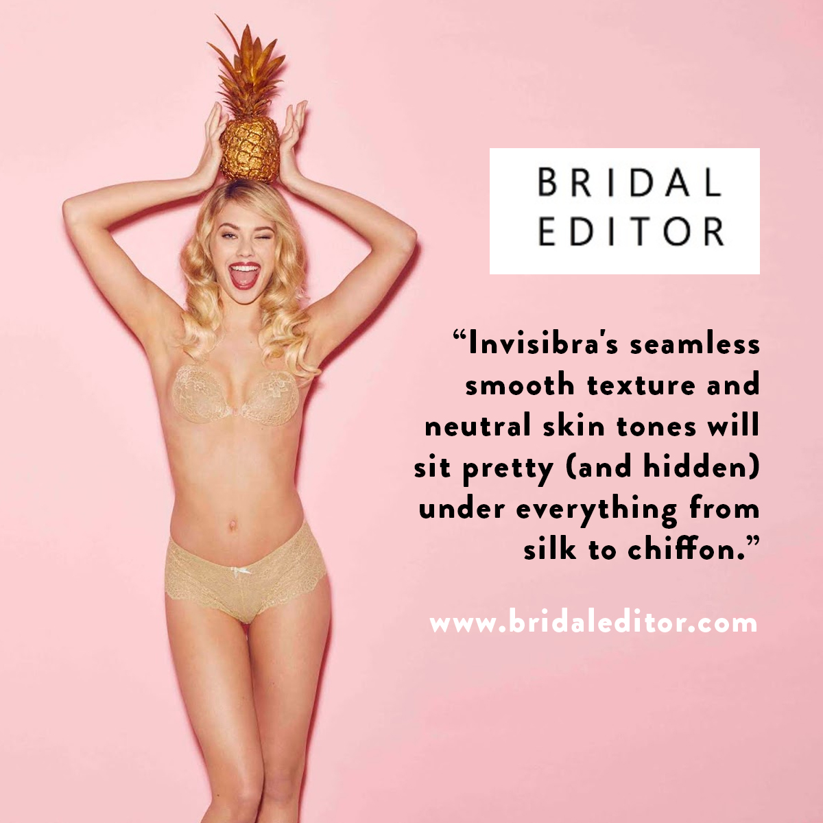 As seen on bridal editor