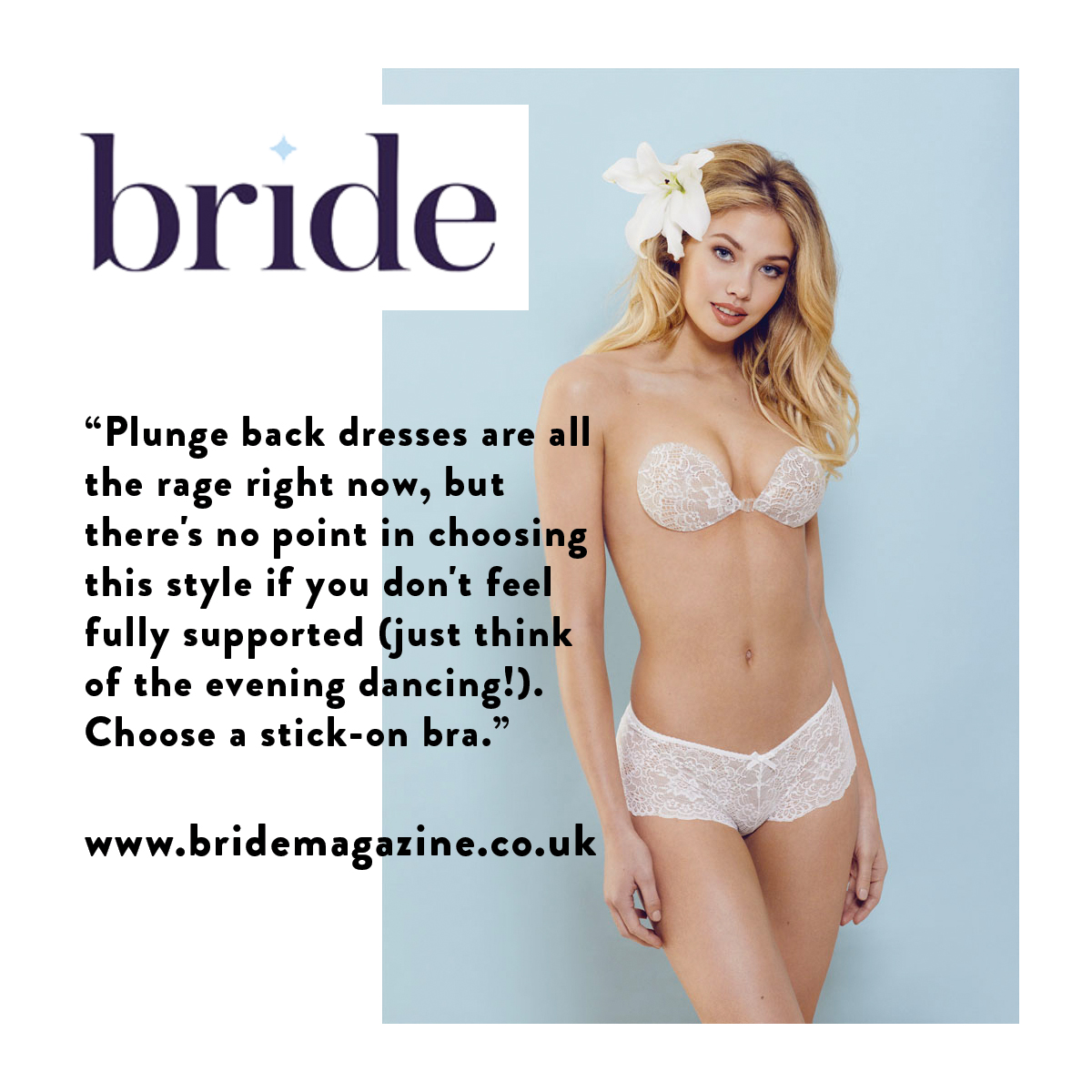 As seen in Bride Magazine InvisiBra