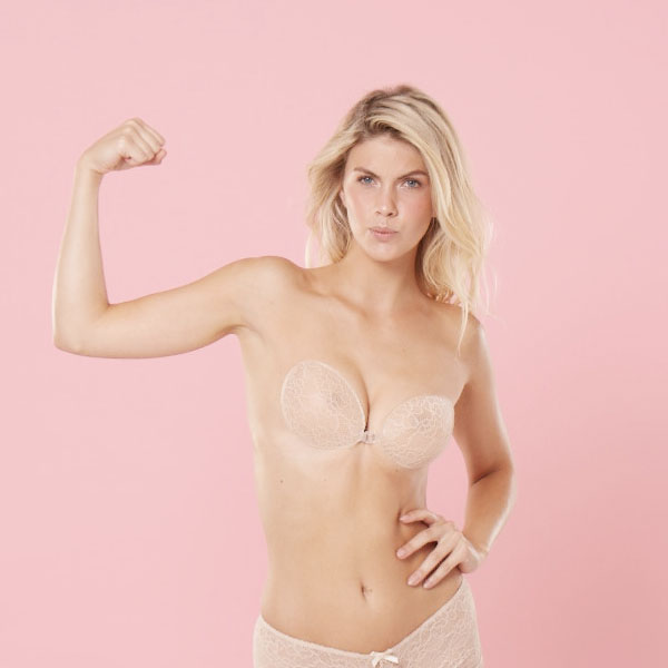 how to wear stick on bra cups lift
