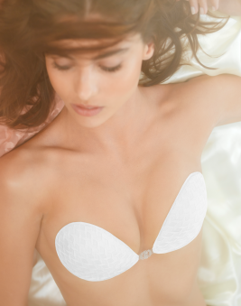 Self Adhesive Stick On Bra <br> WHITE DIAMOND