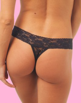 50% Off Black Lace Thong <br> Blackberry - L