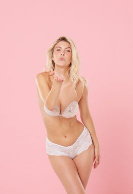 Backless Strapless Push Up Bra With Lace <br> L.O.V.E.