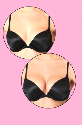 CLEAVAGE ENHANCER PADS <br> PUSH UP BRA INSERTS NUDE
